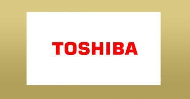 1commande Logo marque Toshiba spécialiste informatique fabricant réputé en Europe pour les qualités du matériel créer par l'entreprise