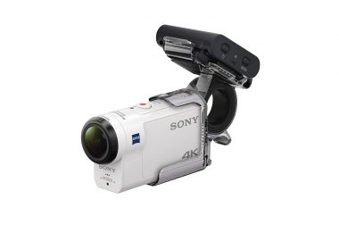 Camera d'action Sony FDR-X3000R + AKA-FGP1 ultra-stabilisée 4K guide test commande web