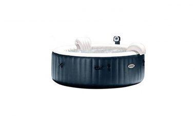 Spa gonflable INTEX PureSpa Bulles et LED couleur bleu navy 4 places guide achat jardin extérieur